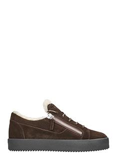 Giuseppe Zanotti-Sneakers Low in camoscio marrone