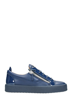 Giuseppe Zanotti-blue leather low sneakers
