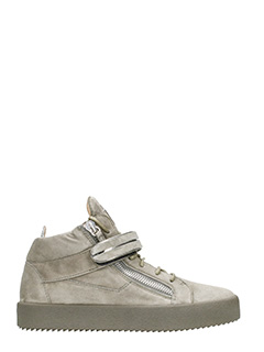 Giuseppe Zanotti-grey suede leather Mick hi-top sneakers
