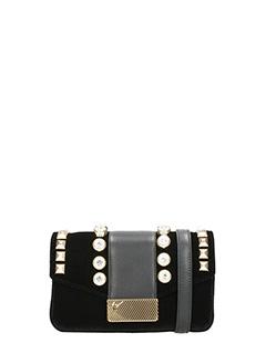 Giuseppe Zanotti-Black velvet clutch