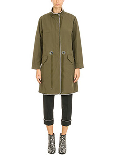 Alexander Wang-Parka Oversized in cotone verde