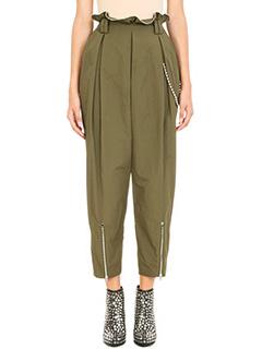 Alexander Wang-High Waist Army ball chain trim trousers