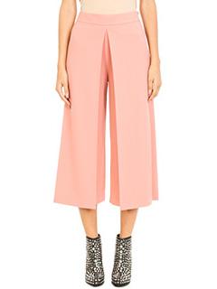 Alexander Wang-Pantaloni vita alta in lana rosa