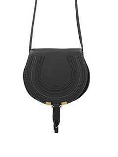 Chlo�-Borsa Mini Marcie Crossbody in pelle nera