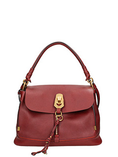 Chlo�-Borsa Owen in pelle bordeaux