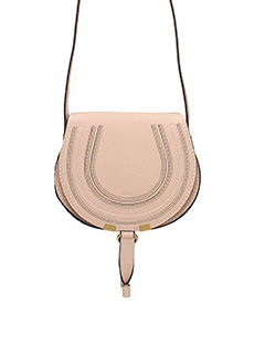 Chlo�-Borsa Mini Marcie Crossbody in pelle rosa
