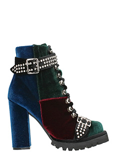 Jeffrey Campbell-Tronchetti Lilith 2 Heel Bootie in velluto multicolor