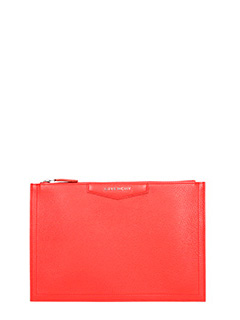 Givenchy-Pochette Antigona Media in pelle rossa