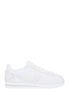 Nike-Sneakers Classic Cortez Premium in pelle bianca