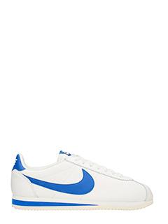 Nike-Sneakers Classic Cortez in pelle bianca blue