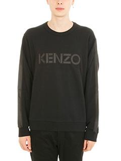 Kenzo-black cotton Logo sweatshirt