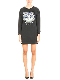 Kenzo-Tiger x Floral Leaf Sweatshirt black cotton