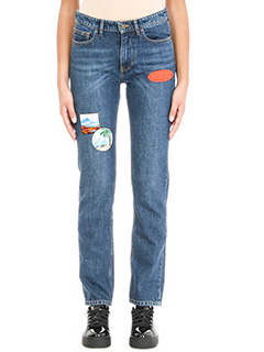 Kenzo-Jeans Patchwork in cotone blue