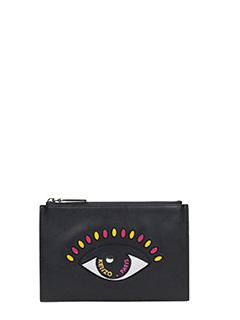Kenzo-portafoglio Small Eye in pelle nera
