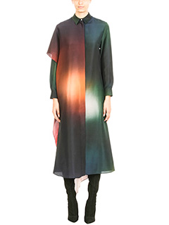 Kenzo-Multicolor silk dress