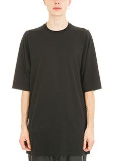 Rick Owens-T-shirt Crewneck Oversize in cotone nero