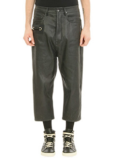 Rick Owens-Jeans Keyring Astaire in denim nero