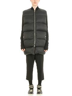 Rick Owens-black Flight Necked coat