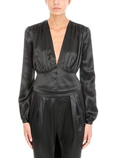 Givenchy-Blusa in seta nera