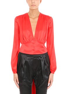 Givenchy-Blusa in seta rossa