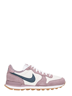 Nike-Sneakers Internationalist in suede viola bianco