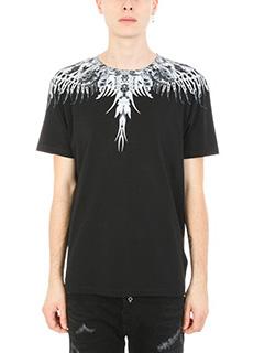 Marcelo Burlon-T-shirt Uruek in cotone nero