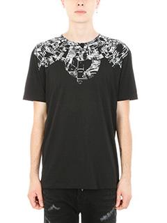 Marcelo Burlon-T-shirt Genek in cotone nero
