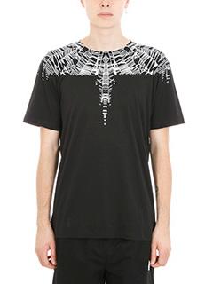 Marcelo Burlon-T-shirt Ke in cotone nero