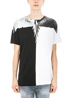 Marcelo Burlon-T-shirt Aish Multi in cotone bianco/nero