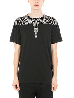 Marcelo Burlon-T-shirt Anne in cotone nero
