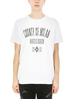 Marcelo Burlon-T-shirt Jak in cotone bianco