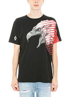Marcelo Burlon-T-shirt Iamens in cotone nero