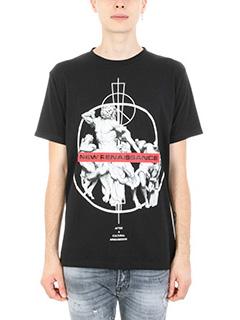 Marcelo Burlon-T-shirt Fainu in cotone nero