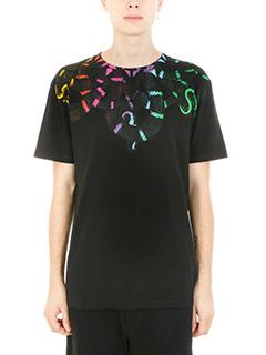 Marcelo Burlon-T-shirt Leonardo in cotone nero