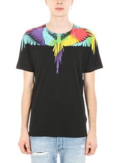 Marcelo Burlon-T-shirt Neurk in cotone nero