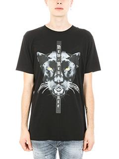 Marcelo Burlon-T-shirt Sang in cotone nero