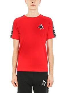 Marcelo Burlon-T-shirt Kappa in cotone rosso