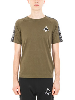 Marcelo Burlon-T-shirt Kappa in cotone verde