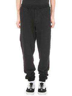 Marcelo Burlon-Pantalone Genek in cotone nero