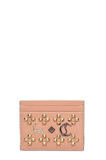 Christian Louboutin-Portacarte Kios Simple Card Holder in pelle rosa