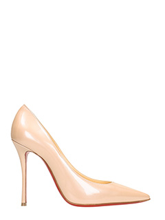 Christian Louboutin-Decollet� Decoltish in vernice nude
