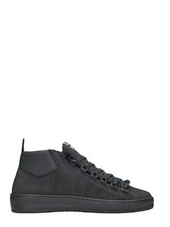 Thoms Nicoll-sneakers basse in tessuto nero