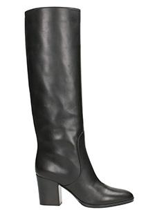 Sergio Rossi-Stivali in pelle nera