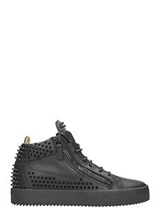 Giuseppe Zanotti-Sneakers borchie in pelle nera