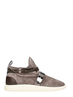 Giuseppe Zanotti-Sneakers Hayden in suede grigia