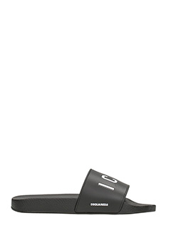 Dsquared 2-Slides Icon Pool in gomma nera