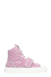 Gienchi-Sneakers Hypnos in tessuto glitter rosa