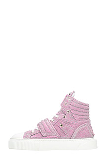 ... Gienchi SNEAKERS HYPNOS IN TESSUTO GLITTER ROSA 3 ...