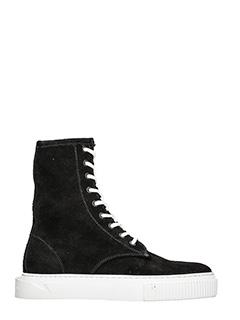 Gienchi-Sneakers Derdy Polacco in camoscio nero