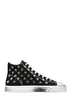 Gienchi-Sneakers Jean Michel Hi in camoscio nero